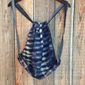 Handbags - ✨3/$12 Blue Tie Dye Drawstring Backpack Handmade